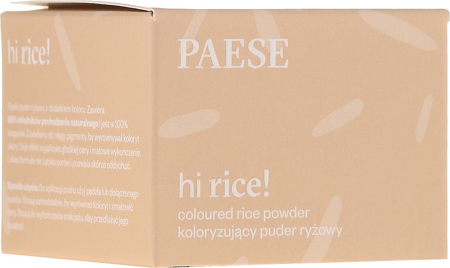 Loser Reispuder für das Gesicht - Paese Hi Rice Coloured Rice Powder