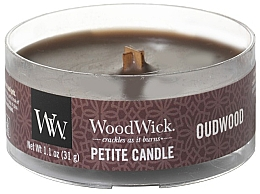 Düfte, Parfümerie und Kosmetik Mini Duftkerze im Glas Oudwood - Woodwick Petite Candle Oudwood