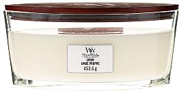 Düfte, Parfümerie und Kosmetik Duftkerze im Glas Linge Propre - Woodwick Hearthwick Flame Ellipse Candle Linen Linge Propre