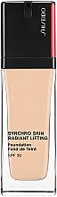 Düfte, Parfümerie und Kosmetik Langanhaltende Foundation mit leuchtendem Finish und natürlichem Glow - Shiseido Synchro Skin Radiant Lifting Foundation SPF 30