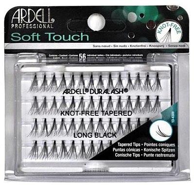 Wimpernbüschel-Set - Ardell Soft Touch Long Black
