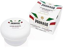 Düfte, Parfümerie und Kosmetik Rasierseife mit Haferflockenextrakt und grünem Tee für sensible Haut - Proraso White Shaving Soap