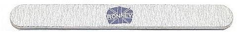 Nagelfeile 180/240 gerade grau - Ronney Professional — Bild N1
