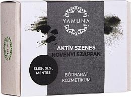 Düfte, Parfümerie und Kosmetik Mydło z węglem aktywnym - Yamuna Activated Carbon Vegetable Soap
