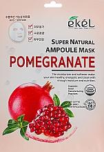 Düfte, Parfümerie und Kosmetik Feuchtigkeitsspendende Tuchmaske für das Gesicht mit Granatapfelextrakt - Ekel Super Natural Ampoule Pomegrante