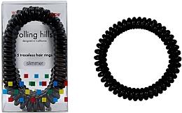 Düfte, Parfümerie und Kosmetik Spiral-Haargummis 5 St. schwarz - Rolling Hills 5 Traceless Hair Rings Slimmer Black