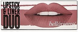 Düfte, Parfümerie und Kosmetik Lippenpflegeset (Lippenkonturenstift 1.5 g + Lippenstift 3.5g) - Bellapierre Lipstick & Liner Duo