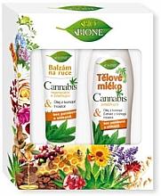 Düfte, Parfümerie und Kosmetik Körperpflegeset - Bione Cosmetics Cannabis (Handbalsam 200ml + Körpermilch 500ml)