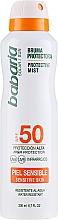 Düfte, Parfümerie und Kosmetik Wasserfestes Sonnenschutzspray für empfindliche Haut SPF 50 - Babaria Protective Mist For Sensitive Skin Spf50