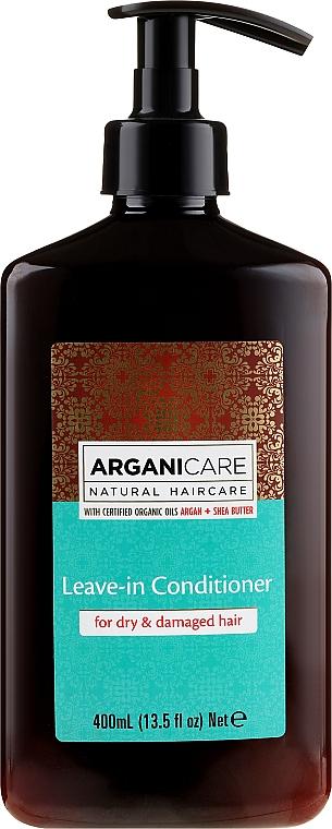 Conditioner mit Arganöl und Sheabutter für trockenes und geschädigtes Haar ohne Ausspülen - Arganicare Shea Butter Leave-In Hair Conditioner