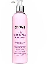 Düfte, Parfümerie und Kosmetik Gesichtsreinigungsmilch mit Seidenproteine - BingoSpa Silk Face&Neck Cleanser