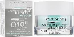 Düfte, Parfümerie und Kosmetik Reichhaltige Liftingcreme für die Nacht mit Hyaluronsäure und Coenzym Q10 - Byphasse Lift Instant Cream Q10 Night Care