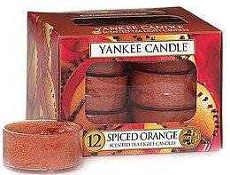 """Düfte, Parfümerie und Kosmetik Teelichte """"Spiced Orange""""-12 St. - Yankee Candle Scented Tea Light Candles Spiced Orange"""