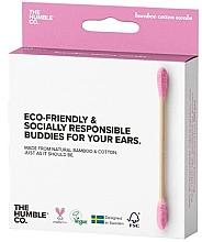 Düfte, Parfümerie und Kosmetik Bambus-Wattestäbchen rosa - The Humble Co. Cotton Swabs Pink