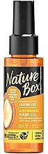 Düfte, Parfümerie und Kosmetik Nährendes und schützendes Haaröl mit kaltgepresstem Arganöl - Nature Box Argan Oil Nourishing Hair Oil