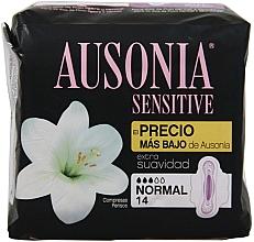 Düfte, Parfümerie und Kosmetik Damenbinden 14 St. - Ausonia Sensitive Normal With Wings