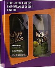 Düfte, Parfümerie und Kosmetik Haarpflegeset - Nature Box Olive Oil Set (Shampoo 385ml + Conditioner 385ml)