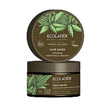 Düfte, Parfümerie und Kosmetik Intensiv stärkende Haarmaske zum Haarwachstum mit Aloe Vera - Ecolatier Organic Aloe Vera Hair Mask
