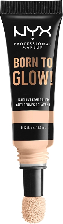 Cremiger Concealer mit variabler mittlerer Deckkraft und einem leuchtenden Finish - NYX Professional Makeup Born To Glow Radiant Concealer