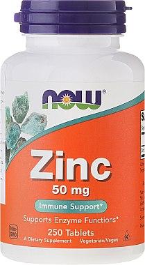 Nahrungsergänzungsmittel Zink 50 mg 250 Tabletten - Now Foods Zink