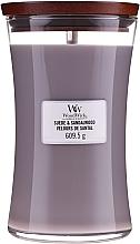 Düfte, Parfümerie und Kosmetik Duftkerze im Glas Suede & Sandalwood - WoodWick Suede & Sandalwood Candle