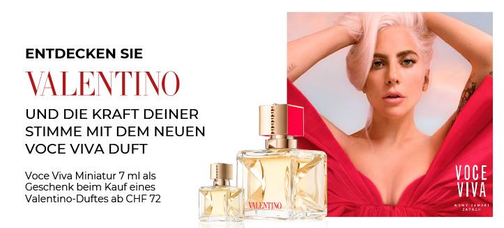 Beim Kauf eines Valentino-Duftes ab CHF 72 erhältst Du ein Mini Voce Viva 7 ml geschenkt