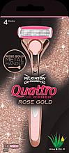 Düfte, Parfümerie und Kosmetik Rasierer mit 1 Rasierklinge - Wilkinson Sword Quattro for Women Rose Gold