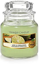 Düfte, Parfümerie und Kosmetik Duftkerze im Glas Lime & Coriander - Yankee Candle Lime & Coriander