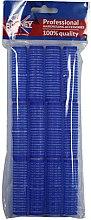 Düfte, Parfümerie und Kosmetik Klettwickler 16x63 mm blau 12 St. - Ronney Professional Velcro Roller