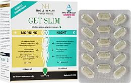 Düfte, Parfümerie und Kosmetik Nahrungsergänzungsmittel Get Slim zur Gewichtsreduktion in 4 Wochen 90 St. - Noble Health Get Slim Morning & Night