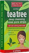 Düfte, Parfümerie und Kosmetik Tiefenreinigende Nasenporenstreifen mit Zaubernuss - Beauty Formulas Tea Tree Deep Cleansing Nose Pore Strips