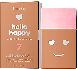 Düfte, Parfümerie und Kosmetik Foundation mit LSF 15 PA+++ - Benefit Hello Happy Soft Blur Foundation