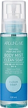 Düfte, Parfümerie und Kosmetik Tonisierender Körpernebel mit Baumwolle-Extrakt - Welcos Around Me Natural Perfume Vita Body Mist Clean Soap