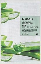 Düfte, Parfümerie und Kosmetik Beruhigende Tuchmaske für das Gesicht mit Aloe - Mizon Joyful Time Essence Mask Aloe