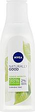 Düfte, Parfümerie und Kosmetik Erfrischendes Gesichtsreinigungstonikum mit grünem Tee - Nivea Naturally Good Cleansing Refreshing Toner