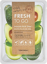 Düfte, Parfümerie und Kosmetik Nährende Tuchmaske mit Avocado-Extrakt - Tony Moly Fresh To Go Avocado Mask Sheet Nourishing