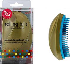 Düfte, Parfümerie und Kosmetik Kompakte Haarbürste gold - Rolling Hills Compact Detangling Brush Gold