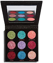 Düfte, Parfümerie und Kosmetik Lidschattenpalette mit Glitzer - Makeup Revolution Pressed Glitter Palette Abracadabra