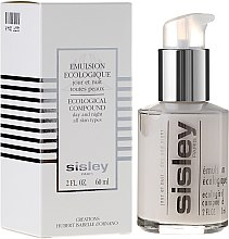 Düfte, Parfümerie und Kosmetik Gesichtsemulsion für Tag und Nacht für alle Hauttypen - Sisley Emulsion Ecologique Ecological Compound
