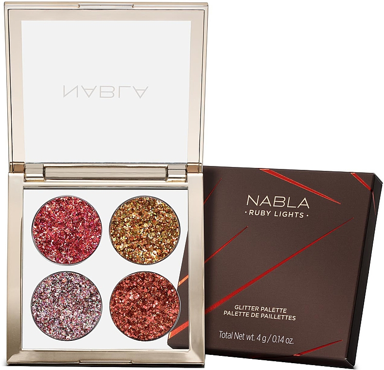 Lidschatten-Palette - Nabla Ruby Lights Collection Glitter Palette