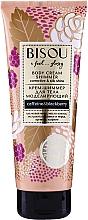 Düfte, Parfümerie und Kosmetik Modellierende Körpercreme mit Kokosöl und Koffein - Bisou Collagen&Blackberry Body Cream Shimmer