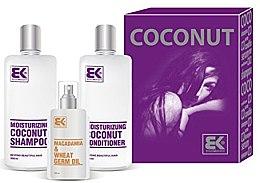 Düfte, Parfümerie und Kosmetik Haarpflegeset - Brazil Keratin Coconut Set (Shampoo 300ml + Conditioner 300ml + Haaröl 100ml)