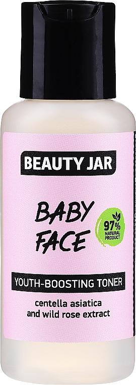 Verjüngendes Gesichtstonikum mit Gotu Kola-Extrakt und Wildrose - Beauty Jar Baby Face Youth-Boosting Toner — Bild N1