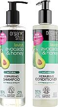 Düfte, Parfümerie und Kosmetik Haarpflegeset - Organic Shop (Haarshampoo 280ml + Haarspülung 280ml)