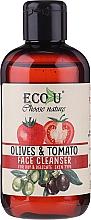Düfte, Parfümerie und Kosmetik Gesichtsreinigungsgel für trockene und empfindliche Haut mit Oliven und Tomaten - Eco U Face Cleanser