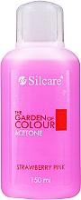Düfte, Parfümerie und Kosmetik Acetonhaltiger Nagellackentferner mit Erdbeerduft - Silcare The Garden Of Colour Aceton Strawberry Pink