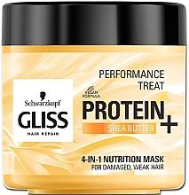 Düfte, Parfümerie und Kosmetik 4in1 Nährende Maske für geschädigtes und schwaches Haar - Schwarzkopf Gliss Kur Performance Treat