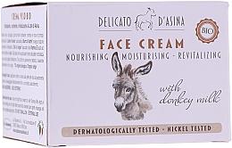 Düfte, Parfümerie und Kosmetik Nährende feuchtigkeitsspendende und revitalisierende Gesichtscreme mit Eselmilch - Florinda Delicato d'Asina Face Cream