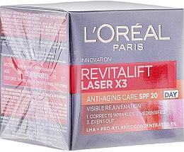 Düfte, Parfümerie und Kosmetik Verjüngende und erneuernde Anti-Falten Tagescreme - L'Oreal Paris Revitalift Laser X3 Anti-Age SPF 20