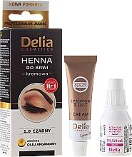 Düfte, Parfümerie und Kosmetik Creme-Henna für Augenbrauen - Delia Cosmetics Cream Eyebrow Dye